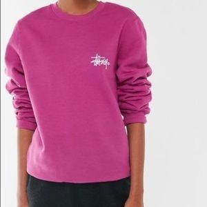 Stussy Purple Basic Graphic Sweatshirt